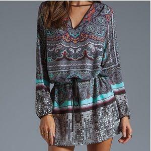 Clover canyon disco paisley tunic dress